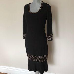 Tommy Hilfiger black dress with studded design.
